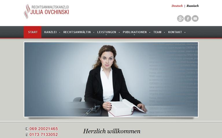 Rechtsanwaltskanzlei Ovchinski